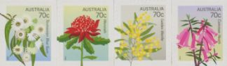 Aus SG4137-40 Floral State Emblems self-adhesive set of 4 from booklet (exSB464/5), perf 11